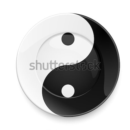 Stock photo: Yin yang plate