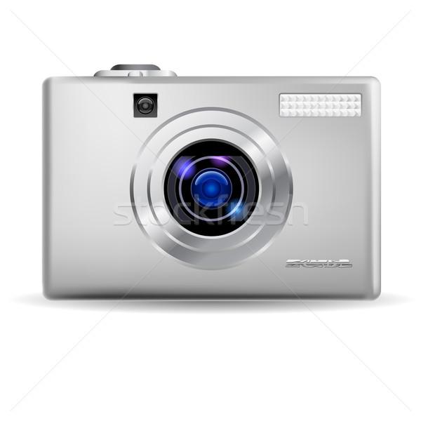 Realistisch digitale camera eenvoudige illustratie witte man Stockfoto © dvarg