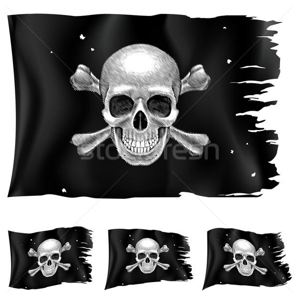 Three types of pirate flag Stock photo © dvarg