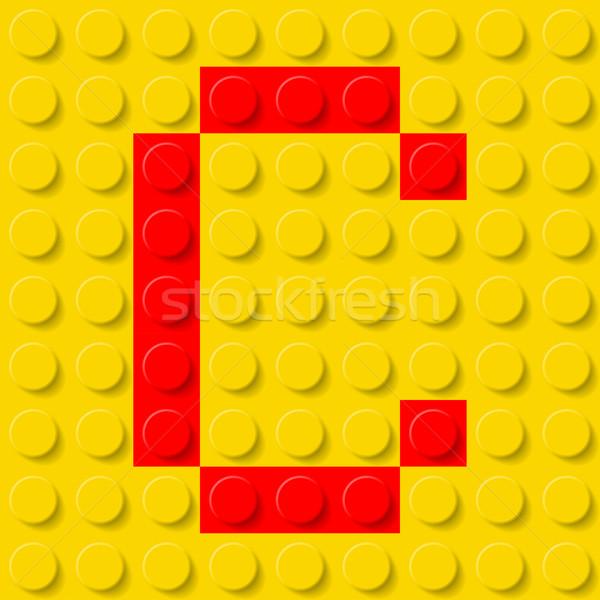 Letter C in construction kit. Stock photo © dvarg