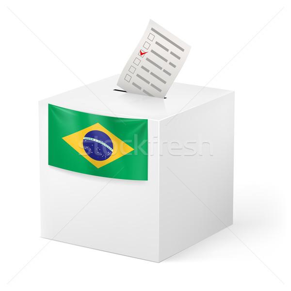 Ballot box with voting paper. Brazil Stock photo © dvarg