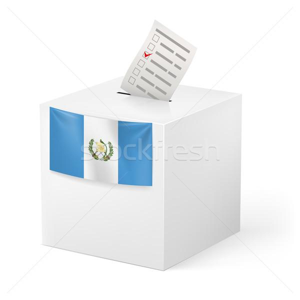 Ballot box with voting paper. Guatemala Stock photo © dvarg