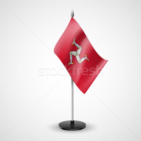 Table flag of Isle of Man Stock photo © dvarg