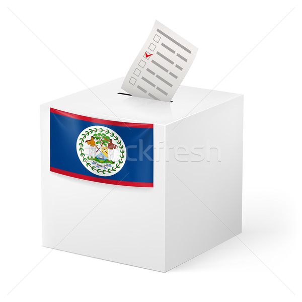 Ballot box with voting paper. Belize Stock photo © dvarg