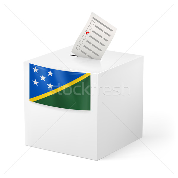 Ballot box with voting paper. Solomon Islands Stock photo © dvarg