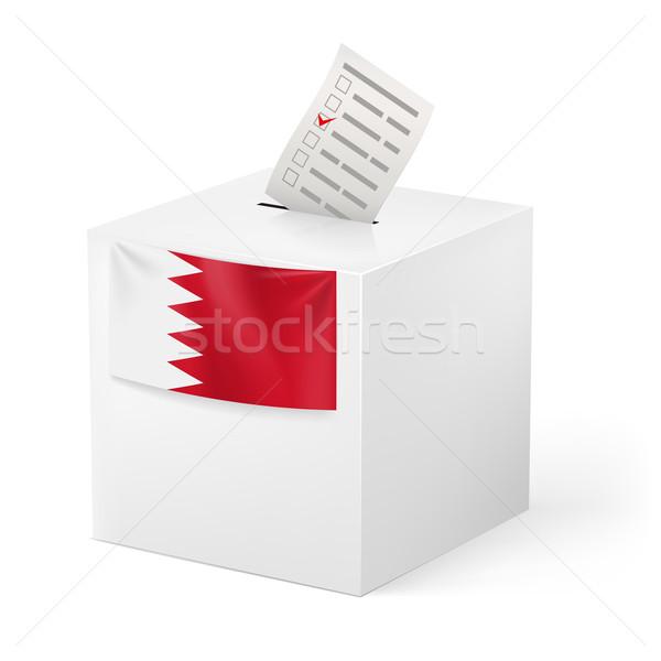 Ballot box with voting paper. Bahrain Stock photo © dvarg