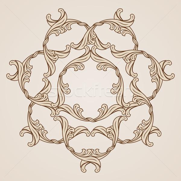 Kwiatowy wzór piękna ilustracja świetle ciemne Zdjęcia stock © dvarg