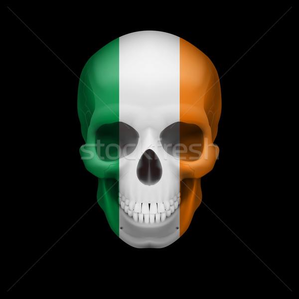 Irish flag skull Stock photo © dvarg