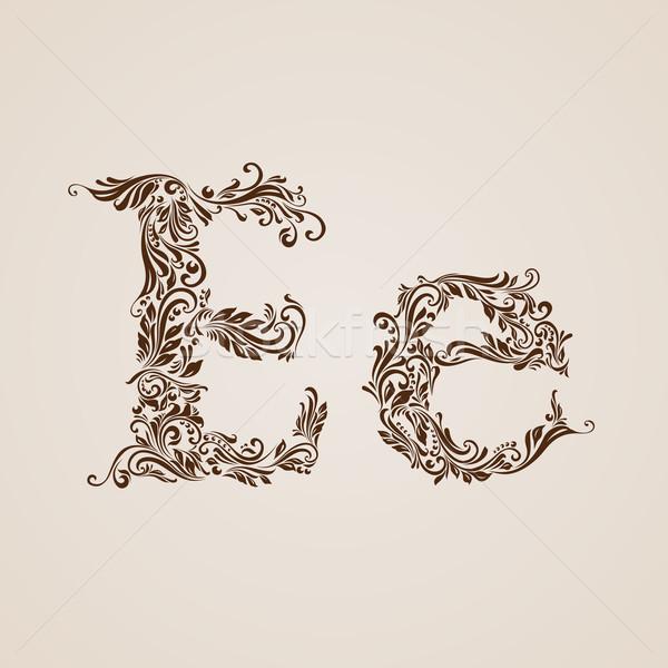 Decorated letter e Stock photo © dvarg