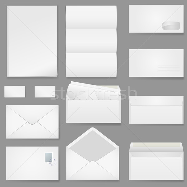 Office paper of different types Stock photo © dvarg
