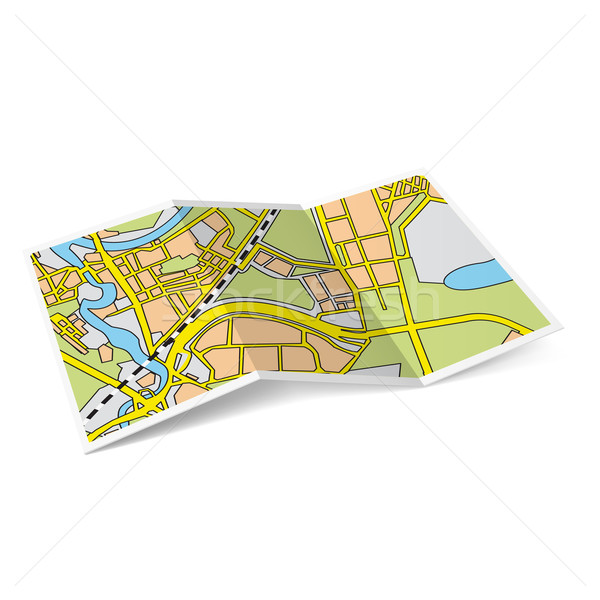Map booklet Stock photo © dvarg