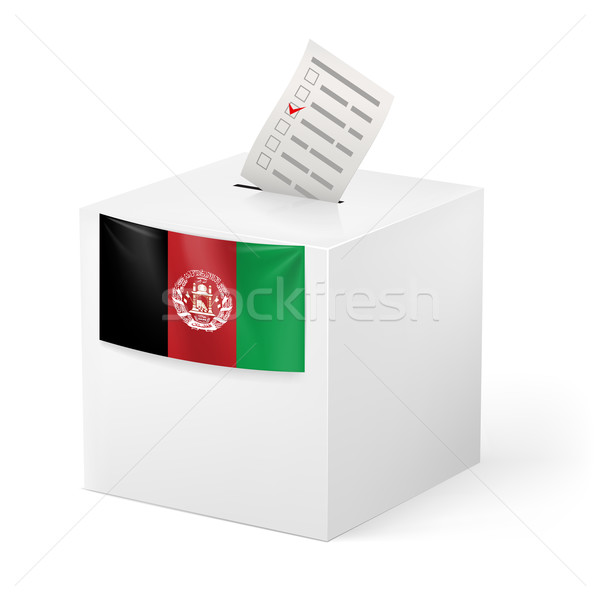 Ballot box with voting paper. Afghanistan Stock photo © dvarg