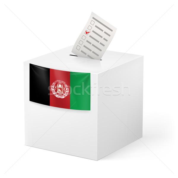 Szavazócédula doboz szavazás papír Afganisztán választás Stock fotó © dvarg