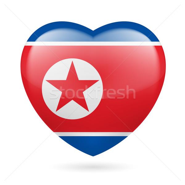 Heart icon of North Korea Stock photo © dvarg