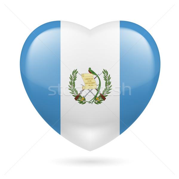 Coração ícone Guatemala bandeira cores amor Foto stock © dvarg