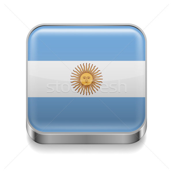 Metal  icon of Argentina Stock photo © dvarg