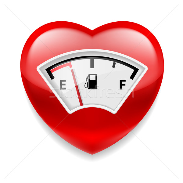 Heart with fuel indicator Stock photo © dvarg