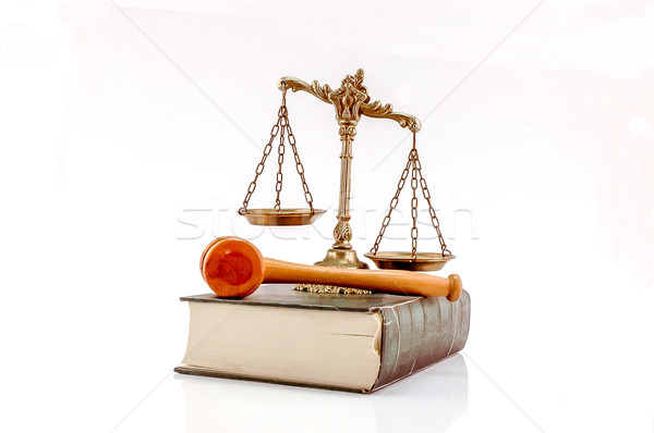 Law and order concept Stock photo © dzejmsdin