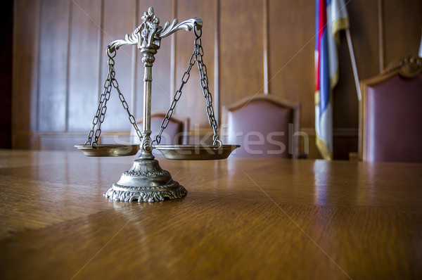Décoratif échelles justice table accent avocat Photo stock © dzejmsdin