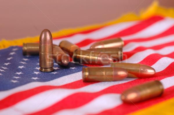 Bandeira americana macio foco guerra textura Foto stock © dzejmsdin