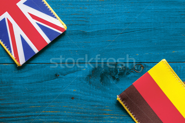 Photo stock: Allemagne · bleu · bois · bois · signe