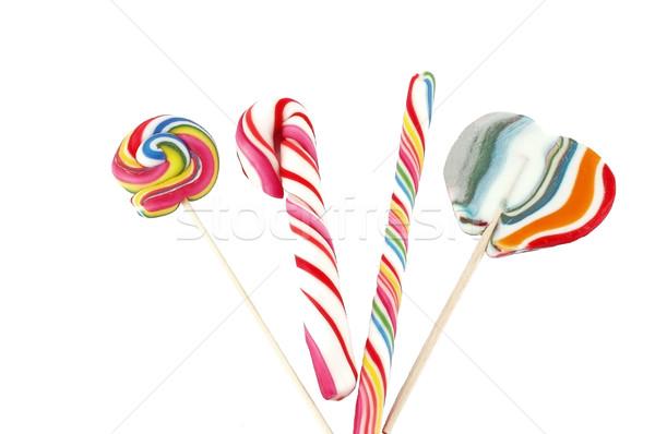 Photo stock: Bonbons · différent · rouge · blanche · heureux · fond