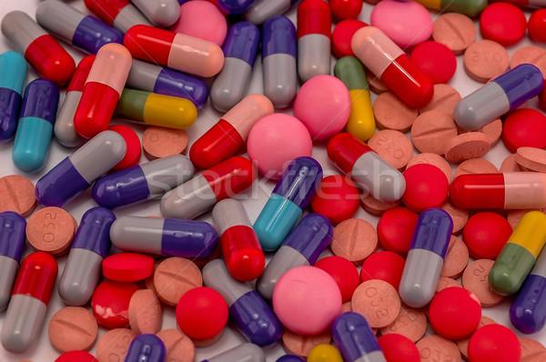 таблетки фото врач синий Сток-фото © dzejmsdin