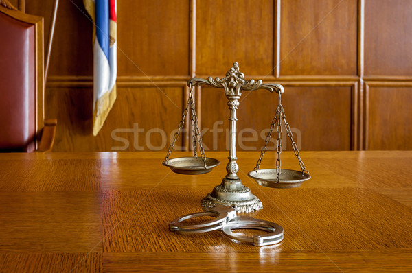 Stock photo: Decorative Scales of Justice
