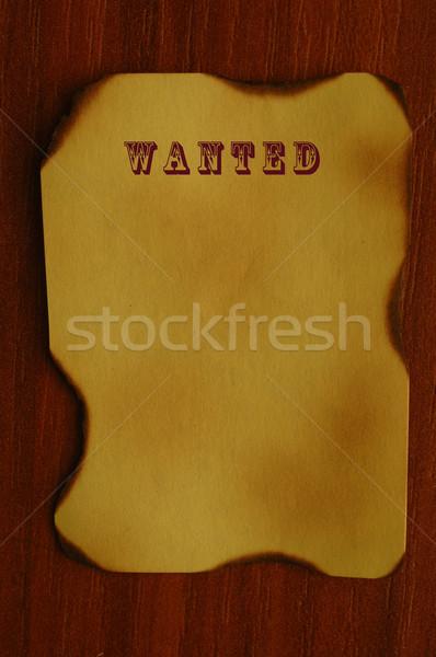 Vieux papier texte recherché la texture du bois naturelles modèles Photo stock © dzejmsdin