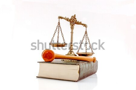 Egyesült Államok nyilatkozat alaptörvény mérleg igazság zászló Stock fotó © dzejmsdin