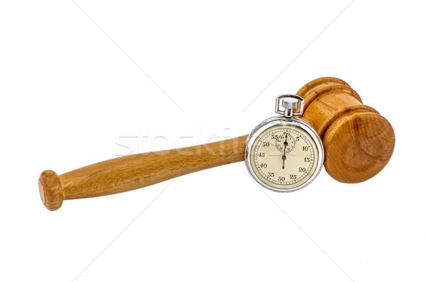 аукционе молоток старые серебро секундомер Сток-фото © dzejmsdin