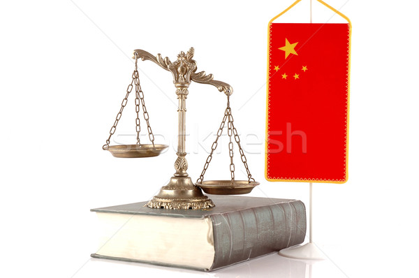 Chino ley para decorativo escalas justicia Foto stock © dzejmsdin