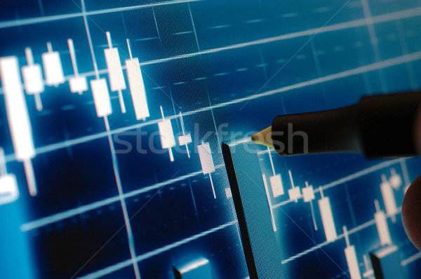 Фондовый рынок диаграммы маркер указывая складе контроля Сток-фото © dzejmsdin