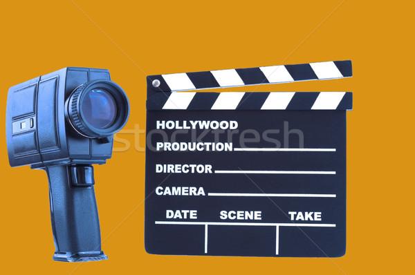 Photo stock: Caméra · orange · affaires · papier · travaux · film