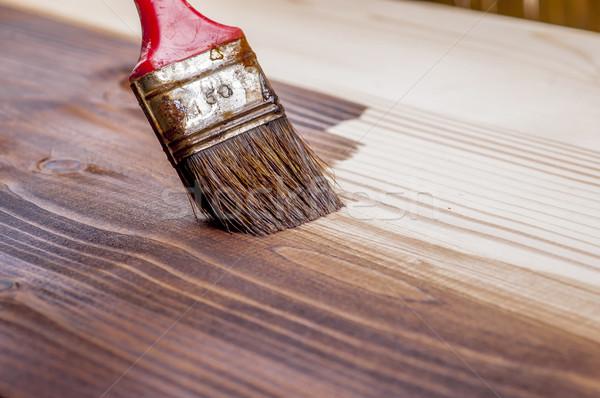 текстура древесины кисти домой текстуры краской Сток-фото © dzejmsdin