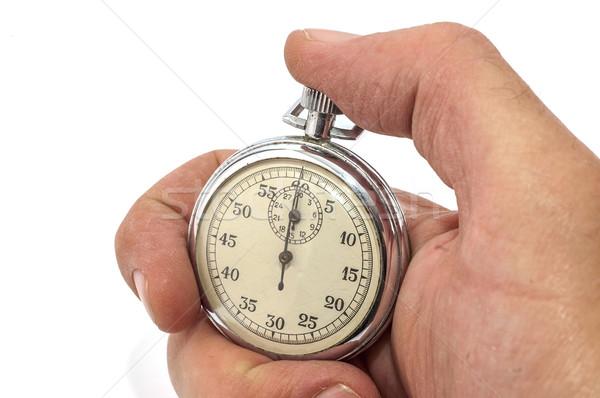 Photo stock: Chronomètre · main · vieux · blanche · soft