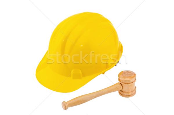Photo stock: Industrie · droit · bois · juge · marteau · jaune
