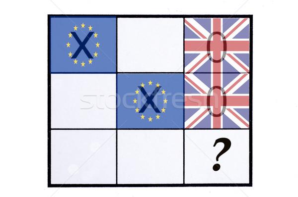 Référendum Royaume-Uni pavillon bord orteil Photo stock © dzejmsdin