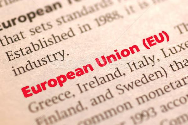 Europeo Unión diccionario definición vista Foto stock © dzejmsdin