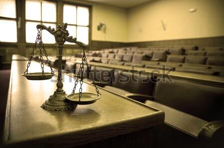 Dekorativ Skalen Gerechtigkeit Gerichtssaal Symbol Recht Stock foto © dzejmsdin