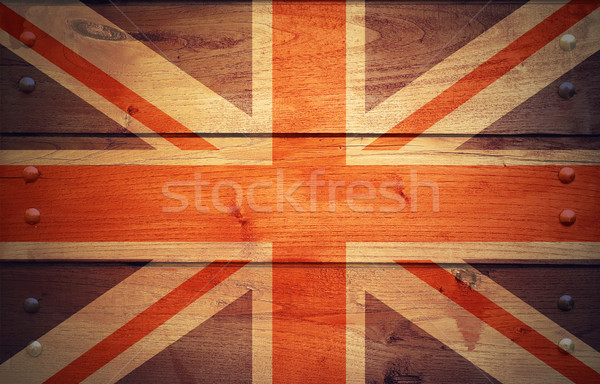 Grunge Unite Kingdom flag Stock photo © dzejmsdin