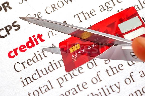 словарь определение кредитных ножницы старые Сток-фото © dzejmsdin