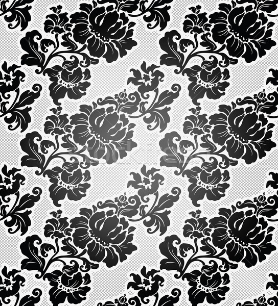 Lace background, ornamental flowers wallpaper Stock photo © Ecelop