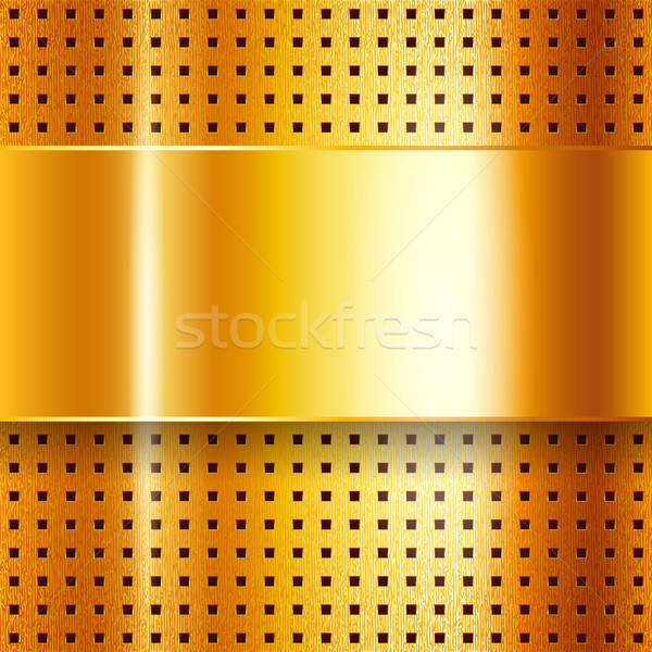Scratched, on gold chrome background Stock photo © Ecelop