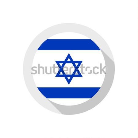 флаг Израиль знак путешествия стране кнопки Сток-фото © Ecelop