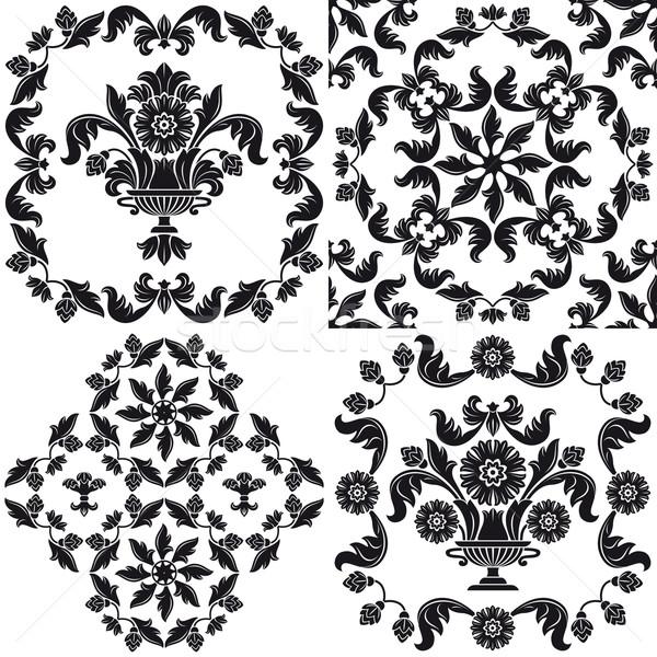 tapete muster schwarz wei design hintergrund vektor grafiken danylo fomin ecelop. Black Bedroom Furniture Sets. Home Design Ideas