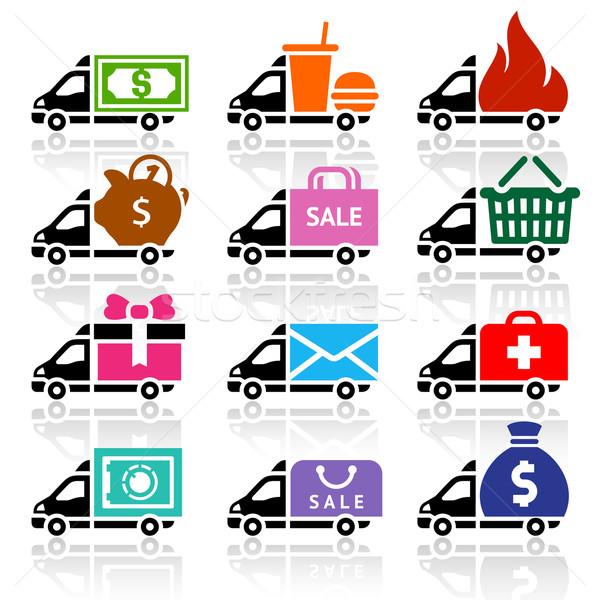 Stockfoto: Vrachtwagen · levering · vrachtwagens · geld · geneeskunde