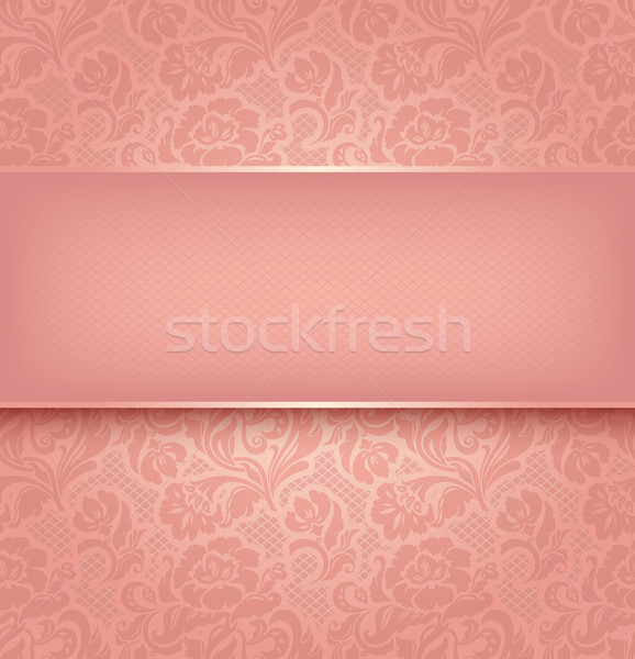 Lace background, pink ornamental fabric textural. Vector eps 10 Stock photo © Ecelop