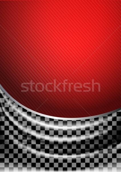 Silk tissue in checkered Stock photo © Ecelop
