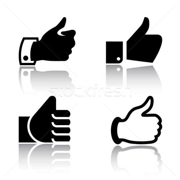 Like, icons with reflection, set 2 Stock photo © Ecelop